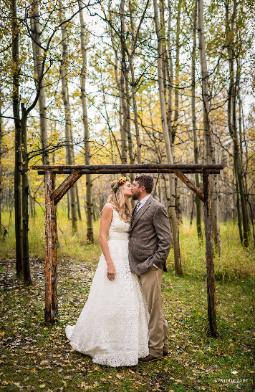 A Colorado Wedding Venue ~ Rustic!  Photo courtsey of Santerbane Photos