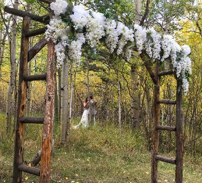 Fall Wedding in the Beautiful Aspen Grove Ceremony Site ~ Historic Pines Ranch near Westcliffe, CO
