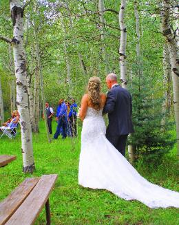 Rustic Weddings ~ Aspen Grove Ceremony Site