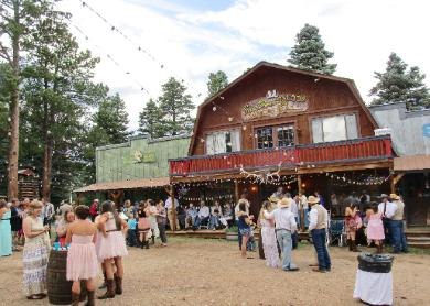 The Sun Dance Saloon and Hall ~ Weddings at the Historic Pines Ranch